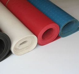 Styrene-butadiene rubber sheets